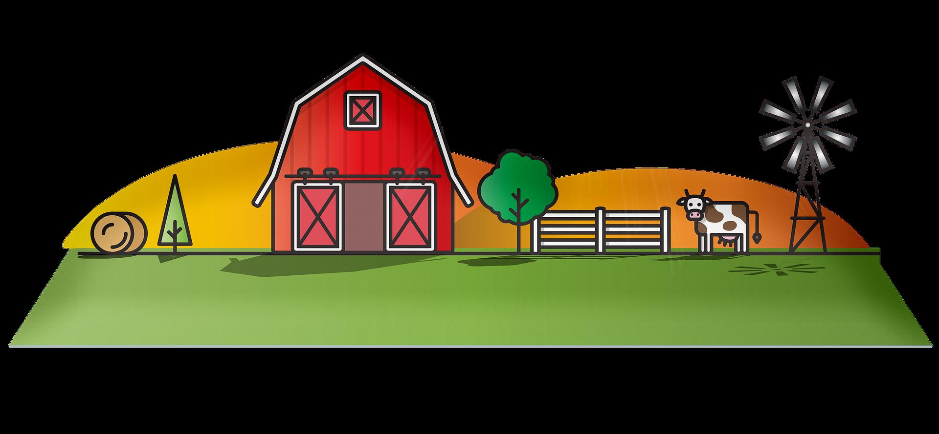 Grafik Bauernhof